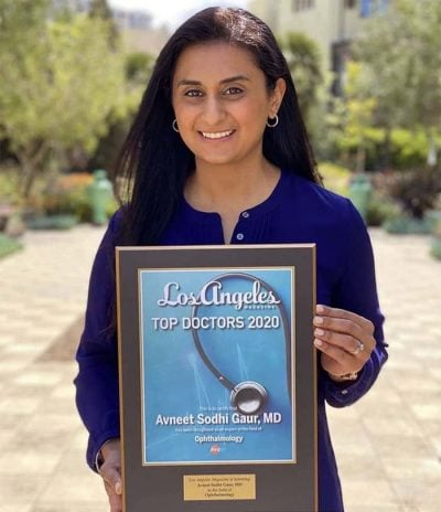 AEI's Dr. Gaur named Top Ophthalmologist by Los Angeles Magazine!